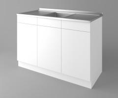 Долен кухненски шкаф с мивка - с две работещи чекмеджета  Нарцис 1