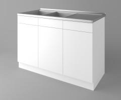 Долен кухненски шкаф с двукоритна мивка Нарцис 1