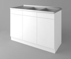 Долен кухненски шкаф с двукоритна мивка Нарцис 2