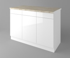 Долен кухненски шкаф с три чекмеджета и три врати Нарцис - Гланц 1