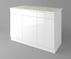 Долен кухненски шкаф с три чекмеджета и три врати Нарцис гланц 2