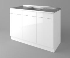 Долен кухненски шкаф с мивка - с две работещи чекмеджета Нарцис - Гланц 1