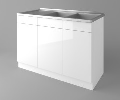 Долен кухненски шкаф с двукоритна мивка Нарцис гланц 1