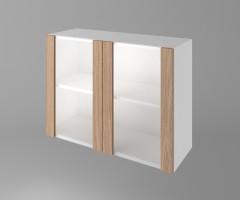 Горен кухненски шкаф с две врати за стъкло Поларис 1