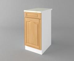 Долен кухненски шкаф с чекмедже и една врата Астра - Натурална 1