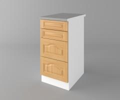 Долен кухненски шкаф с четири чекмеджета Астра - Натурална 2