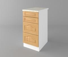 Долен кухненски шкаф с четири чекмеджета Астра - Натурална 3