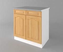 Долен кухненски шкаф с две чекмеджета и две врати Астра - Натурална 2