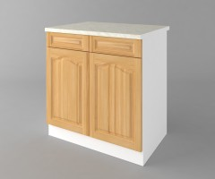 Долен кухненски шкаф с две чекмеджета и две врати Астра - Натурална 3