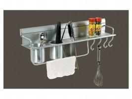 Алуминиев мултифункционален рафт за кухня KA 2