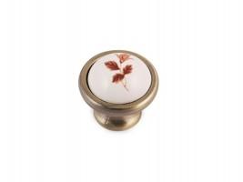 Метална ретро дръжка кафяво цвете 8252 1