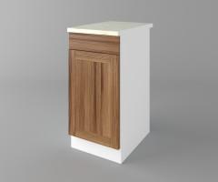 Долен кухненски шкаф с чекмедже и една врата Калатея - Канела 1