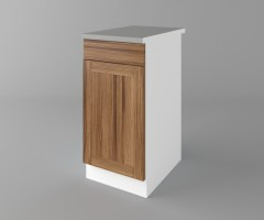 Долен кухненски шкаф с чекмедже и една врата Калатея - Канела 4