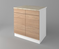 Долен кухненски шкаф с две чекмеджета и две врати Поларис 1