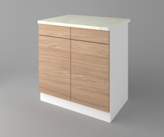 Долен кухненски шкаф с две чекмеджета и две врати Поларис 4