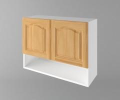 Горен кухненски шкаф с две врати и ниша Астра - Натурална 1