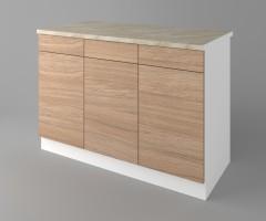 Долен кухненски шкаф с три чекмеджета и три врати Поларис 1