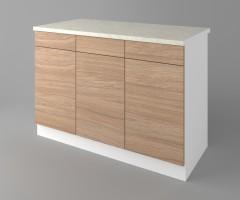 Долен кухненски шкаф с три чекмеджета и три врати Поларис 2