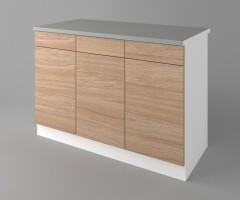 Долен кухненски шкаф с три чекмеджета и три врати Поларис 3