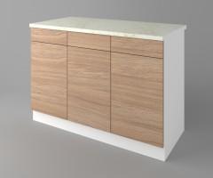 Долен кухненски шкаф с три чекмеджета и три врати Поларис 4