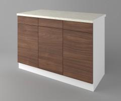 Долен кухненски шкаф с три чекмеджета и три врати Атлас 3