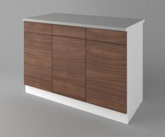 Долен кухненски шкаф с три чекмеджета и три врати Атлас 4