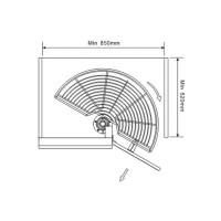 Кошница въртяща 1/2 за шкаф 800 мм  2