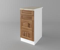 Долен кухненски шкаф с четири чекмеджета Астра - Канела 1
