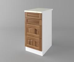Долен кухненски шкаф с четири чекмеджета Астра - Канела 3