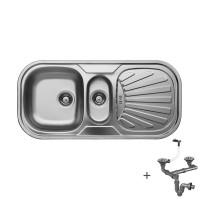 Стоманена мивка с плот и отцедник 1000х480х180 мм  1