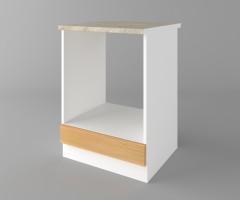 Долен кухненски шкаф за вградена фурна  Калатея - Натурална 4
