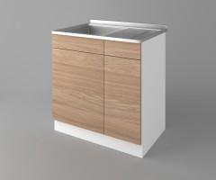Долен кухненски шкаф с мивка - с едно работещо чекмедже Поларис 3