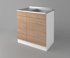 Долен кухненски шкаф с мивка - с едно работещо чекмедже Поларис 4