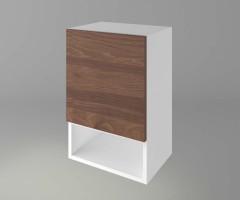 Горен кухненски шкаф с една врата и ниша Атлас 1
