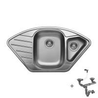 Мивка ъглова с отцедник LIVINOKS 920х500х200  1