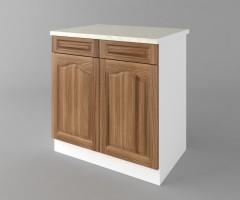 Долен кухненски шкаф с две чекмеджета и две врати Астра - Канела 2