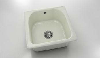 Единична мивка 208- полимермрамор - 51 х 51 см. 1