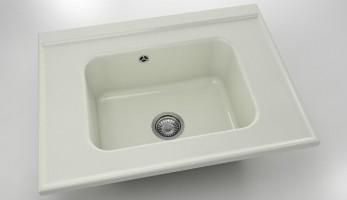 Свободностояща  мивка 219- полимермрамор-80х60см. 1