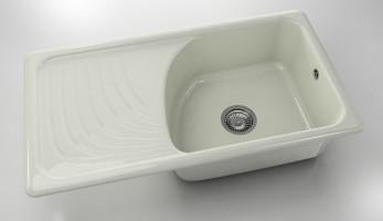 Мивка с ляв плот 203- полимермрамор-90 x 49 см
