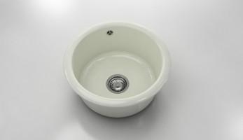 Кръгла мивка 206- полимермрамор- дълбочина 21 см. 1