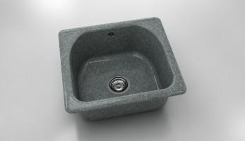 Единична мивка 207- граниксит - 51 х 46 см. 1