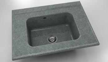 Свободностояща мивка за модул единична 219- граниксит-80х60см. 1