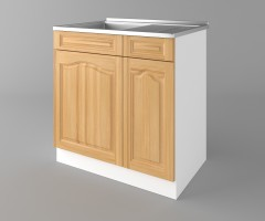 Долен кухненски шкаф с мивка - с едно работещо чекмедже Астра - Натурална 3