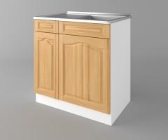 Долен кухненски шкаф с мивка - с едно работещо чекмедже Астра - Натурална 4