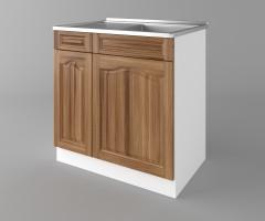 Долен кухненски шкаф с мивка - с едно работещо чекмедже Астра - Канела 3