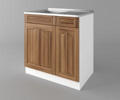 Долен кухненски шкаф с мивка - с едно работещо чекмедже Астра - Канела 4