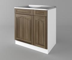Долен кухненски шкаф с мивка - с едно работещо чекмедже Астра - Ким 3