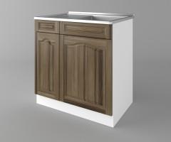 Долен кухненски шкаф с мивка - с едно работещо чекмедже Астра - Ким 4