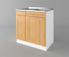 Долен кухненски шкаф с мивка - с едно работещо чекмедже Калатея - Натурална 3