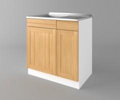 Долен кухненски шкаф с мивка - с едно работещо чекмедже Калатея - Натурална 4